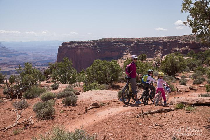 Bideau family biking Moab