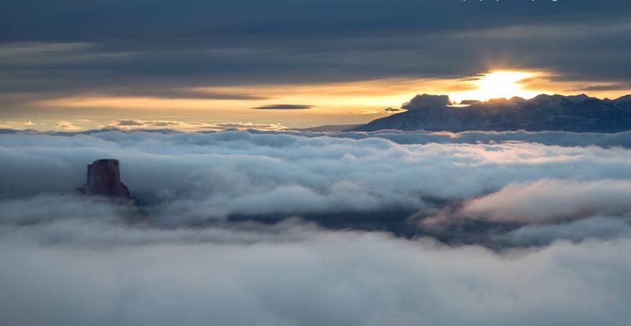 Sunrise over Dead Horse Point Utah