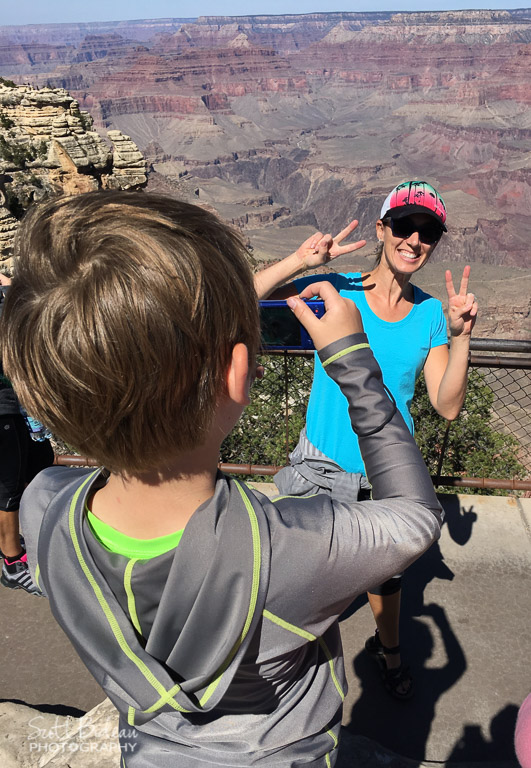 child photographing Grand Canyon