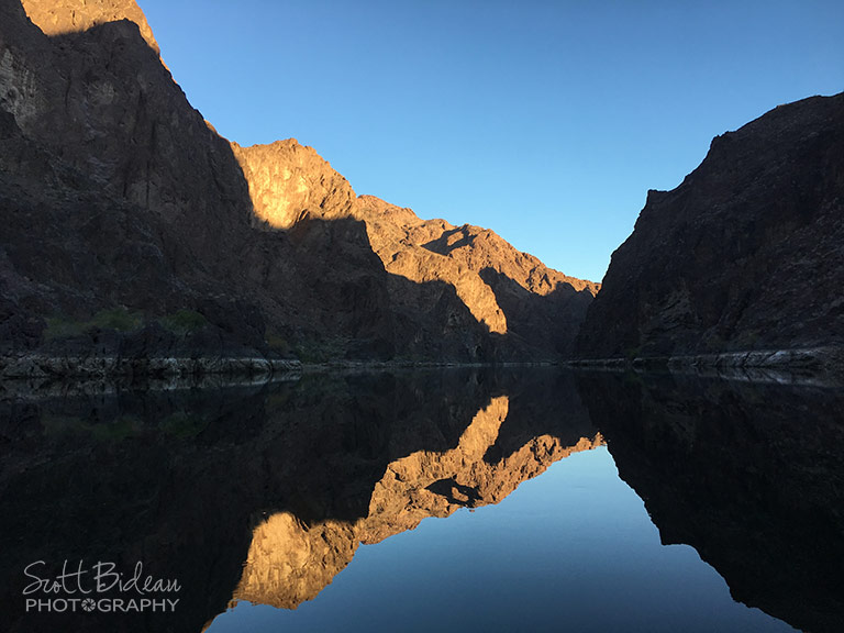 Sunrise in the Black Canyon, Colorado River
